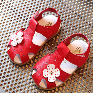 Hot Sale Kids Sandals Girl Baby Toddler Summer Shoes Soft Leather Children Shoes Cute Flowers Girl's Sandals