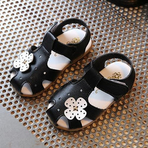 Baby Girls Sandals Walker Shoes Soft Anti slip Sole Kids Toddler Toe cap Children's Sandals girl