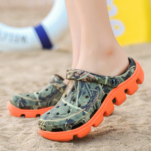 Alllwesome Croc Shoes Men Summer Sandals Lightweight Massage Camouflage Flip Flops Gladiator Sandals Clogs Crocsnessinglys 2019