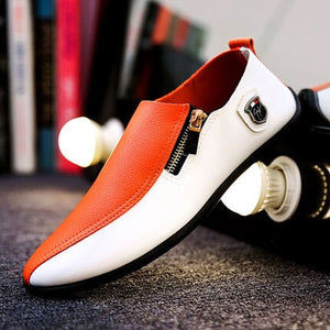 2018 New Simple And Mature Mens Breathable High Quality Casual Shoes PU Leather Casual Sneaker Slip On men Fashion Flats Loafer