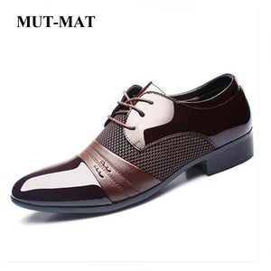 2019 New Arrival Spring Autumn Business Shoes Large Size EUR 38-48 Oxford Microfiber Leather Men's Shoes Lace-up Flats Shoes