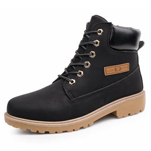 MUMUELI Plus Large Size Black Brown 2019 Designer Casual Snow Men Shoes High Top Quality Fashion Luxury Brand Male Work Boots G3
