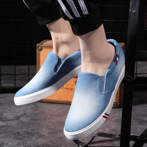 Men Canvas Shoes Denim Sneakers Casual Flats Male Shoes Adult Summer Men Trainers Breathable Slip on Loafers Tenis Masculino