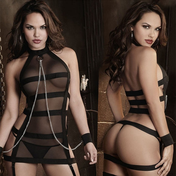 Bdsm Style Bundled Handcuff Lingerie
