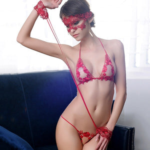 Lace Thong Lingeries With Handcuff