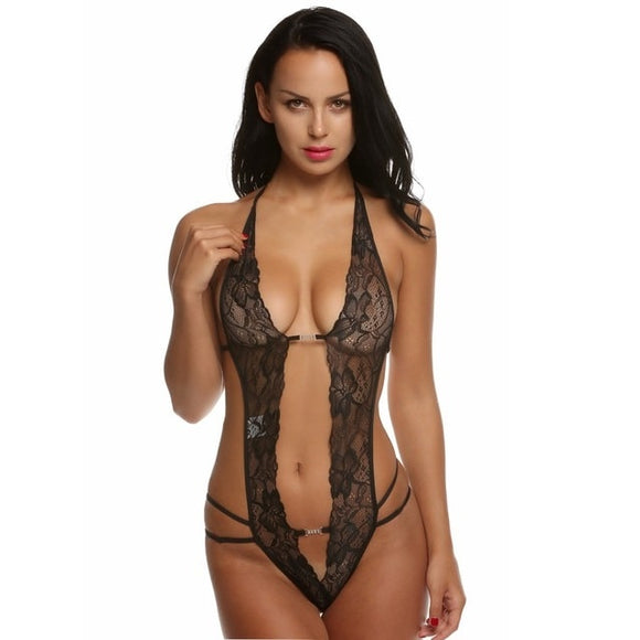 One Piece Lace Halter Sexy Lingerie