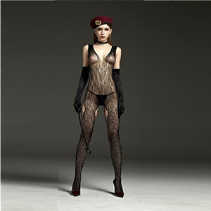 Sexy Crotchless Bodysuit Stockings