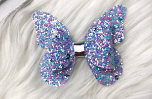 Glittered Sequin Butterfly Bow