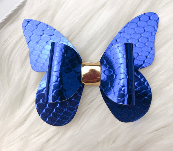 Blue Scales Butterfly Bow