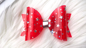 Red Jelly Stars Bow