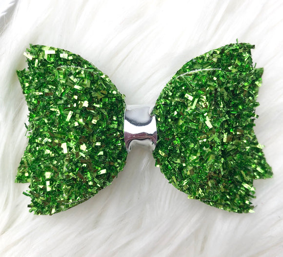Green Tinsel Bow