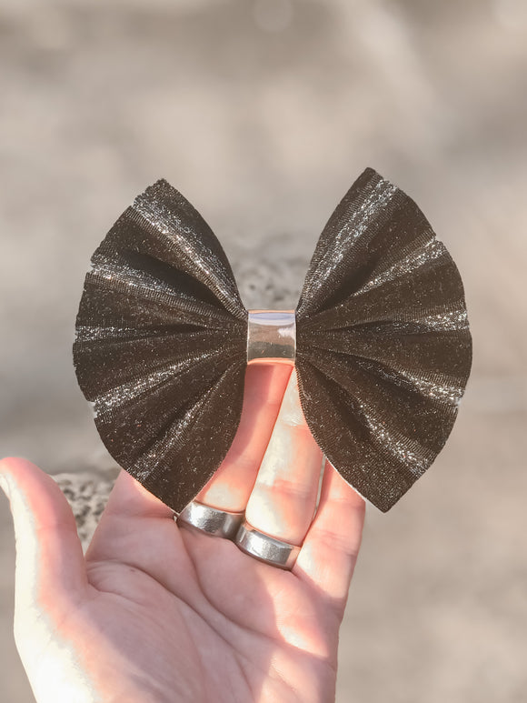 Black Ribbon Velvet Large Bow