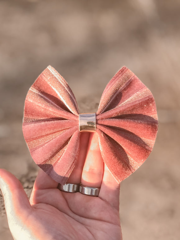 Mauve Ribbon Velvet Large Bow