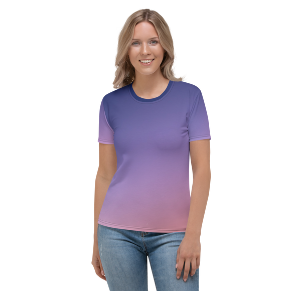 Purple Ombre Womens Top