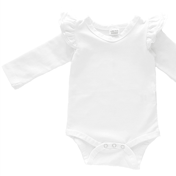 Baby Alive White Fluttersuit Long Sleeve