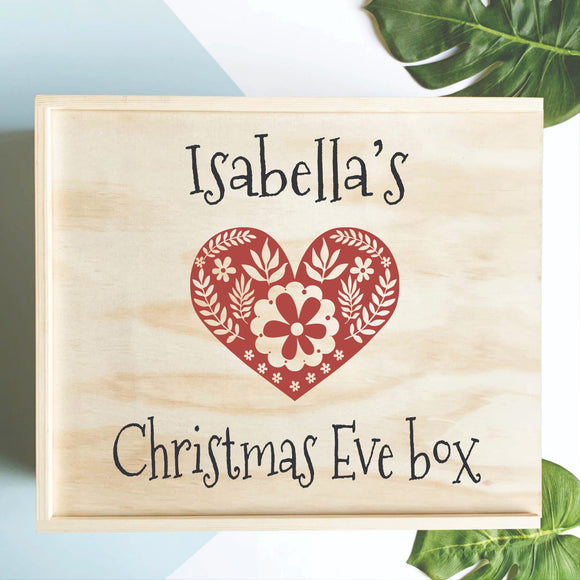 Scandi Heart Christmas Eve Box