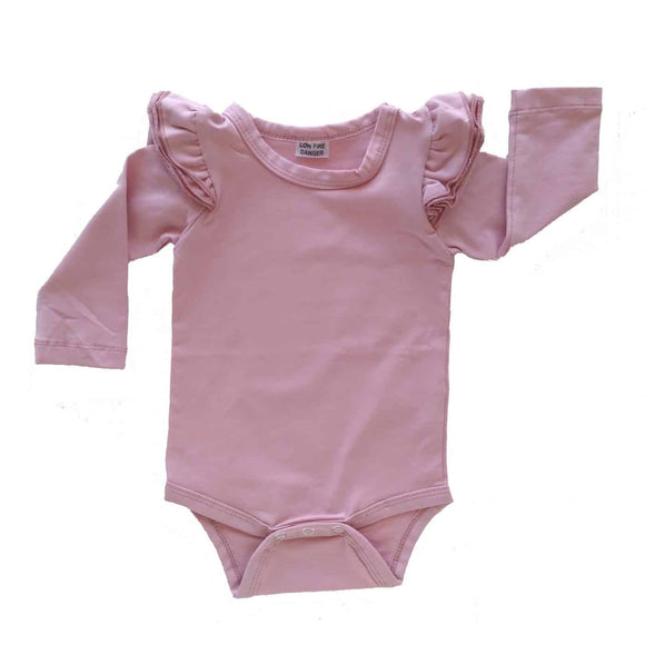 Baby Alive Dusty Pink Fluttersuit Long Sleeve