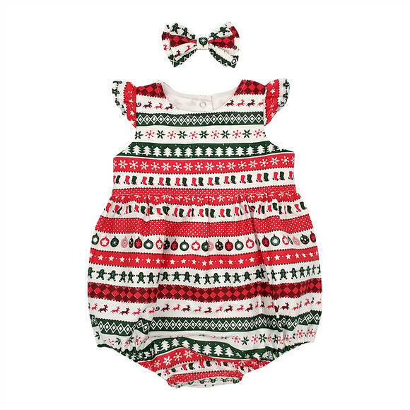 Bubble Romper – Christmas Candy