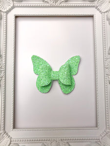Green Apple Butterfly Bow