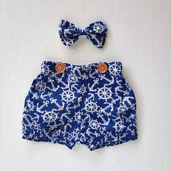 Sail n Anchor Shorts and Hairband – PLS UPSIZE