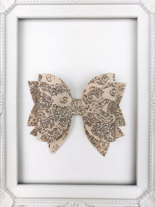 Gold Lace Bow