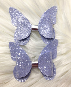 Crystalline Butterfly Pig Tail Bows