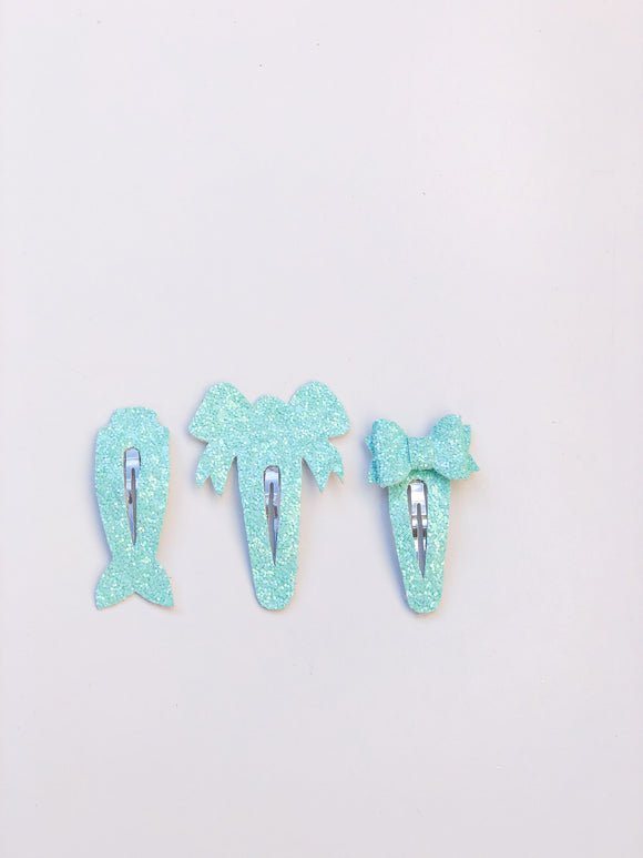 Mint Fringe Clips