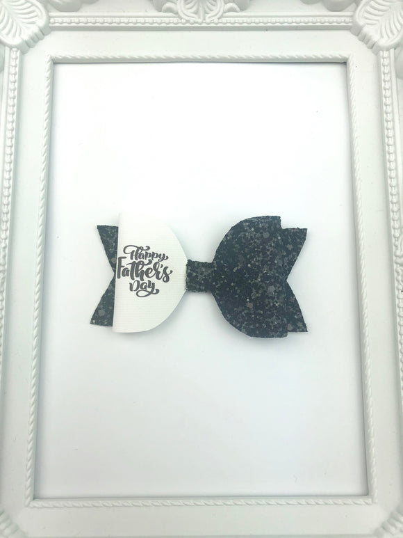 Black Fathers Day Bow