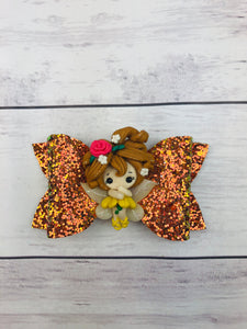 Princess Belle Fairy Bow
