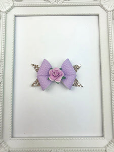 Rosey Purple Bow