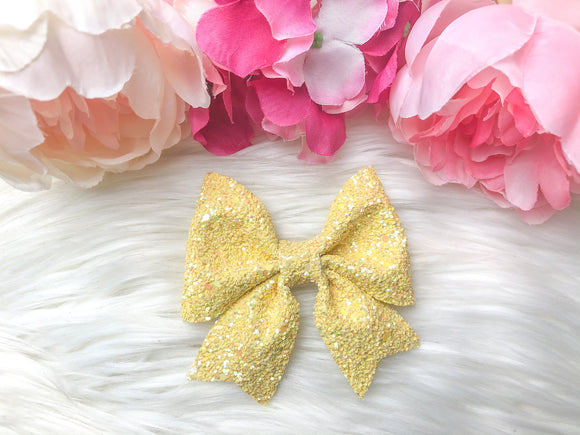 Yellow Glitter Sailor Bow