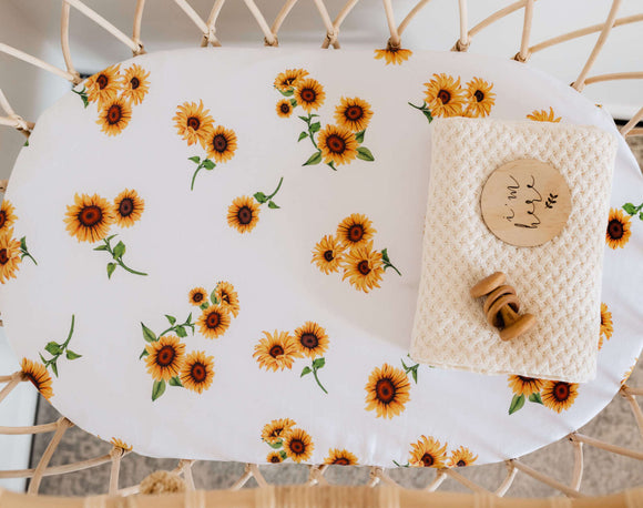 Sunflower | Bassinet Sheet / Change Pad Cover