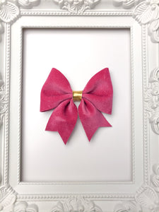 Magenta Velvet Sailor Bow