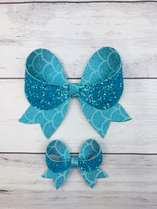 Aqua Mermaid Bows