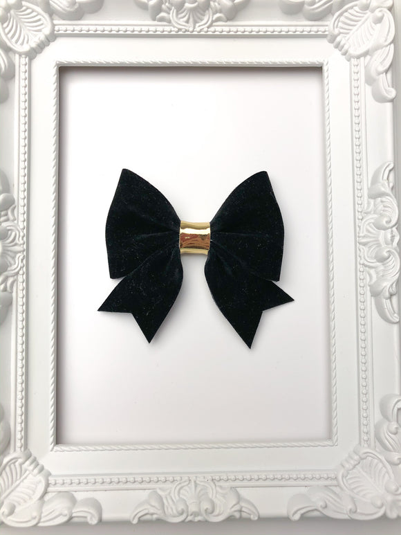 Black Velvet Sailor Bow