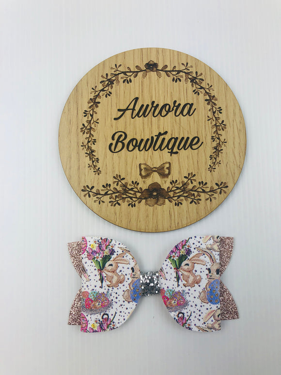 Gold Bunny Bow