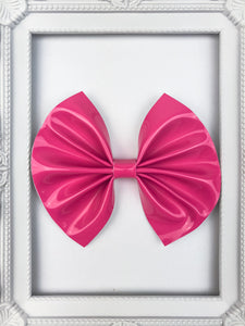 Flamingo Pink Bow