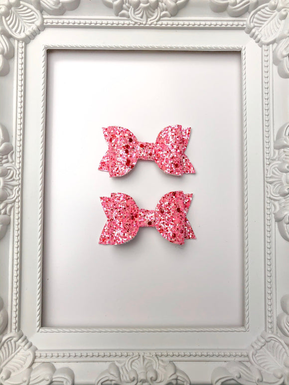 Strawberry Sprinkles Pig Tail Bows