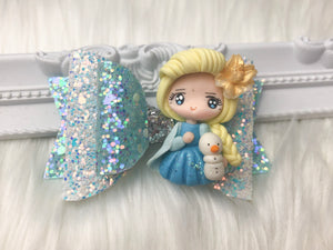 Elsa Frozen Clay Bow