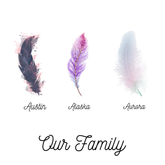 Our Family Feather Photo