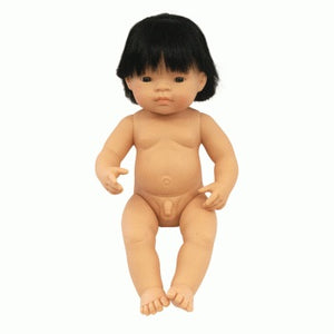 Miniland Doll 38cm Asian Boy Undressed