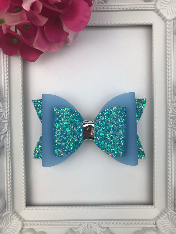 Blue Jelly Bow