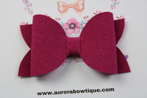 Berry Suede Bow