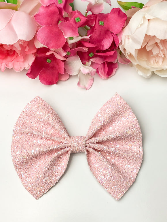 Baby Pink Matte Large Bow