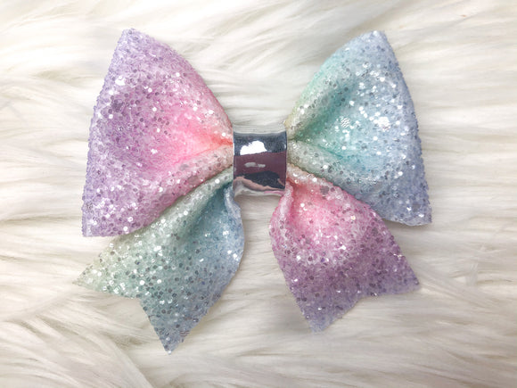 Pastel Rainbow Sailor Bow