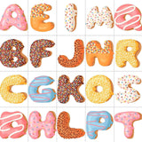 Donut Sprinkle Monogram Bow
