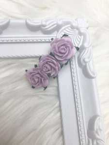 Light Purple Floral Fringe Clip