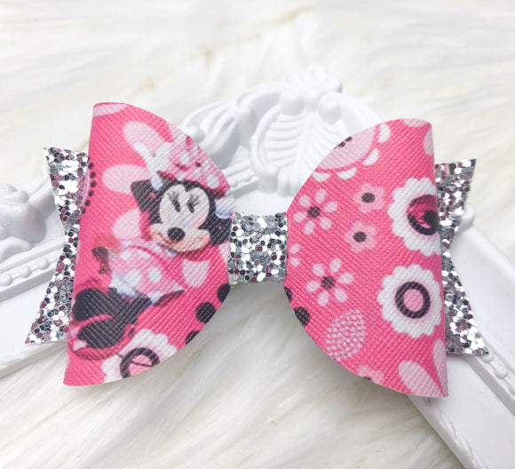 Pink Minnie Bow