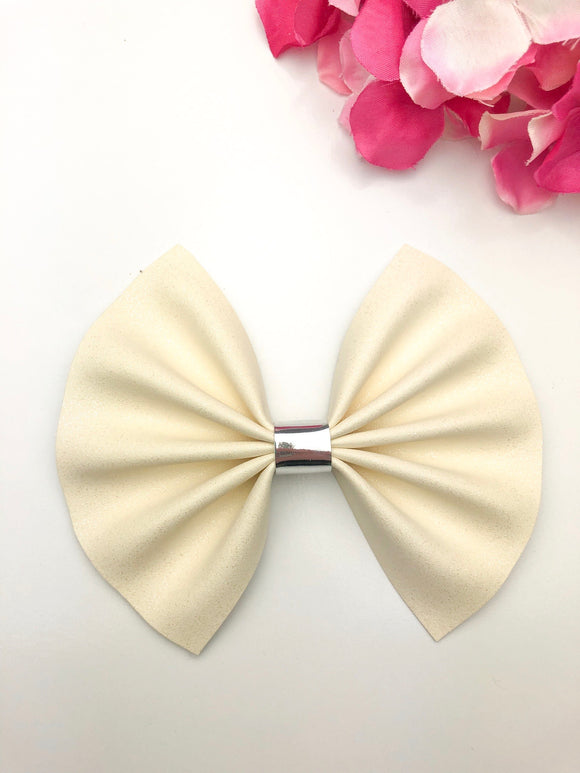 French Vanilla Large Bow