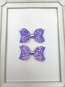 Lilac Pig Tail Bows